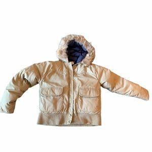 Woolrich Vintage Puffer Jacket Hooded Tan